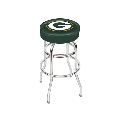 Green Bay Packers Chrome Bar Stool | Man Cave Authority | IMP 26-1001