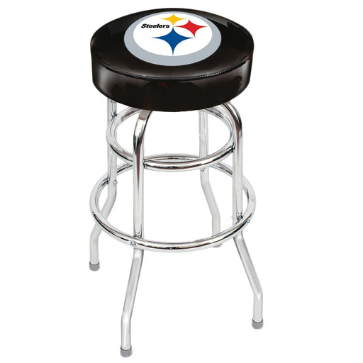 Pittsburgh Steelers Chrome Bar Stool | Man Cave Authority | IMP 26-1004
