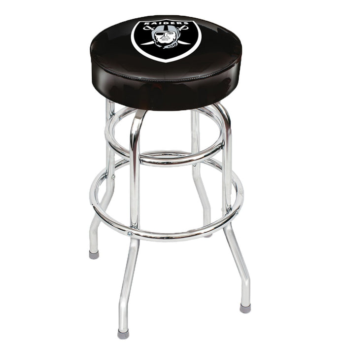 Oakland Raiders Chrome Bar Stool | Man Cave Authority | IMP 26-1010