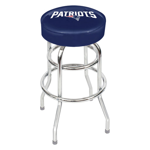 New England Patriots Chrome Bar Stool | Man Cave Authority | IMP 26-1011