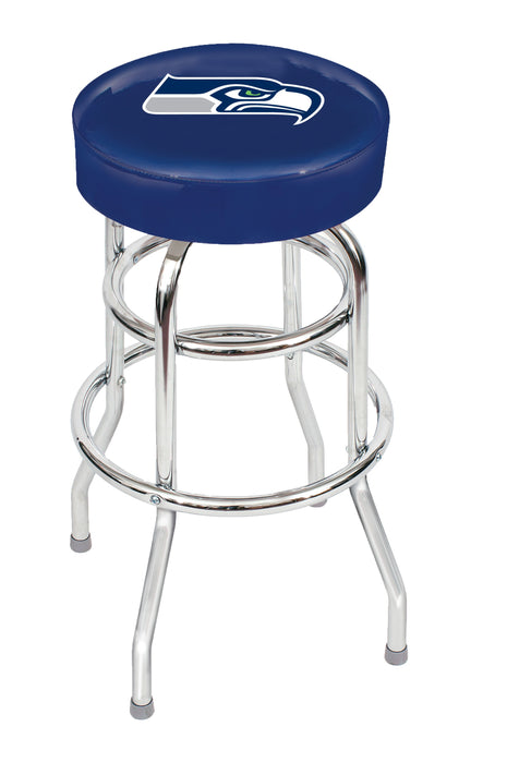 Seattle Seahawks Chrome Bar Stool | Man Cave Authority | IMP 26-1024