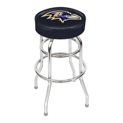 Baltimore Ravens Chrome Bar Stool | Man Cave Authority | IMP 26-1025
