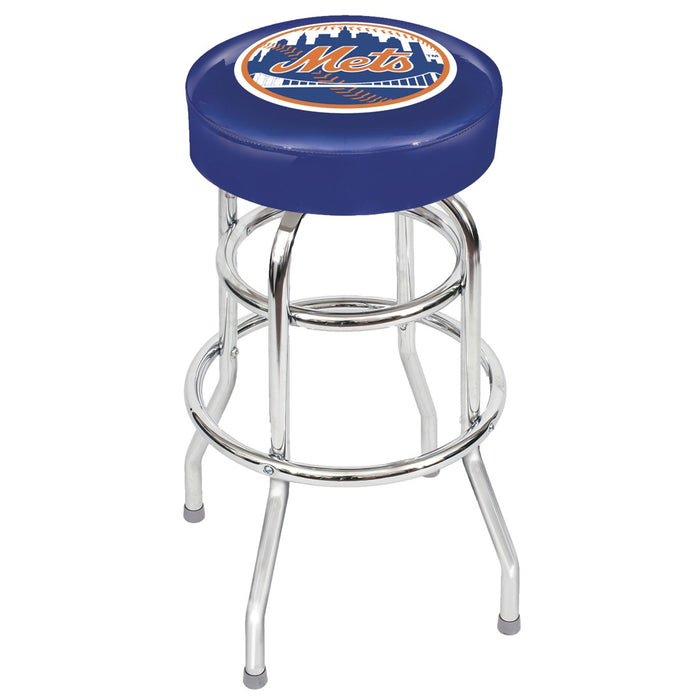 New York Mets Chrome Bar Stool | Man Cave Authority | IMP 26-3002