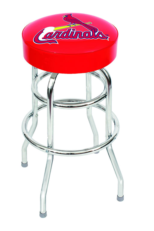 St Louis Cardinals Chrome Bar Stool | Man Cave Authority | IMP 26-3008