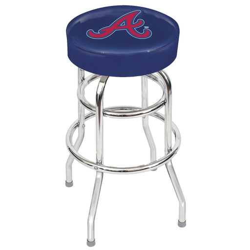 Atlanta Braves Chrome Bar Stool | Man Cave Authority | IMP 26-3010