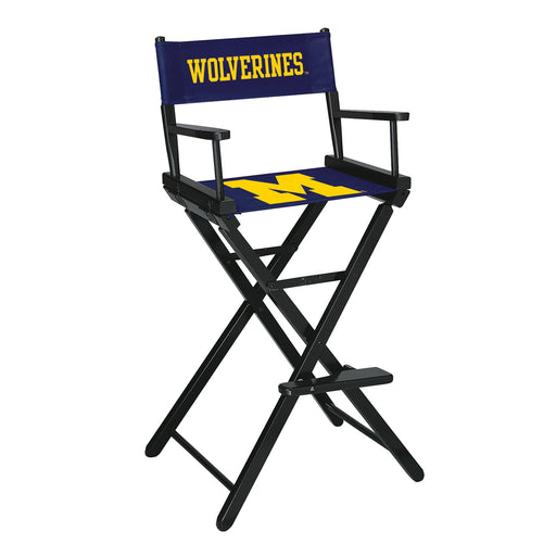 University of Michigan Bar Height Directors Chair | Man Cave Authority | IMP 300-6009