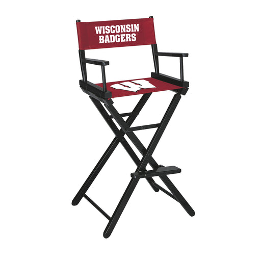 University of Wisconsin Bar Height Directors Chair | Man Cave Authority | IMP 300-6013