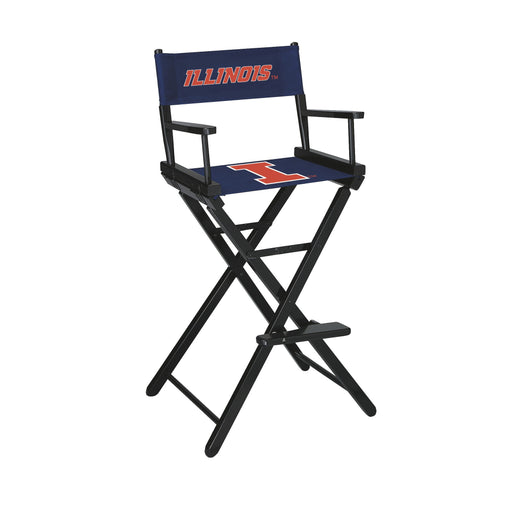 University of Illinois Bar Height Directors Chair | Man Cave Authority | IMP 300-6028