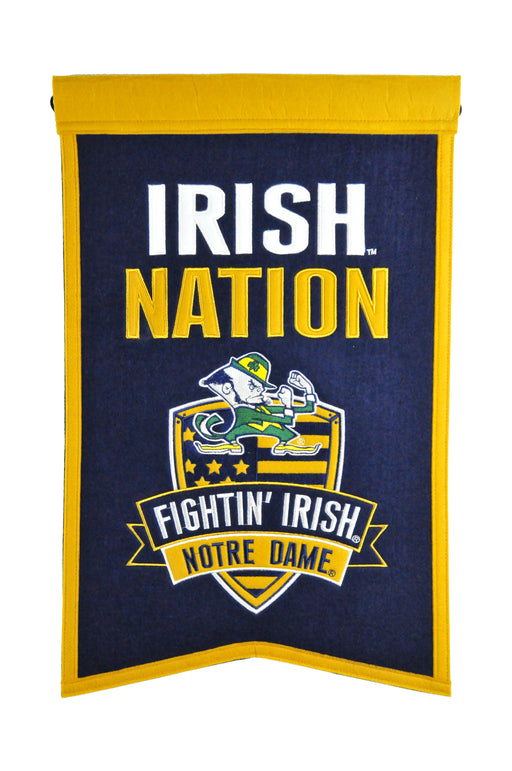 Notre Dame Nations Banner | Man Cave Decor | 30015