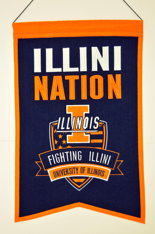 University of Illinois Nations Banner | Man Cave Decor | 30018