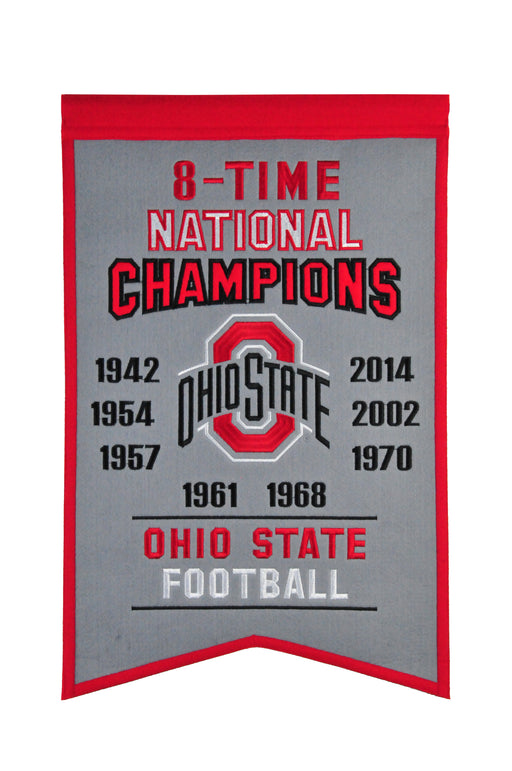 Ohio State University Champs Banner | Man Cave Decor | 30045