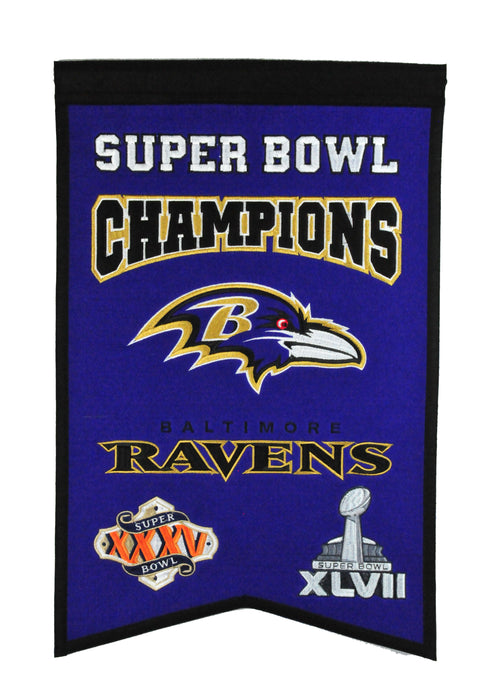 Baltimore Ravens Champs Banner | Man Cave Decor | 30125