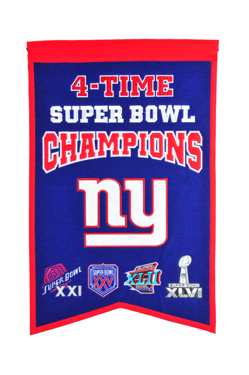 New York Giants Champs Banner | Man Cave Decor | 30133