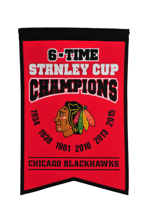 Chicago Blackhawks Champs Banner | Man Cave Decor | 30208