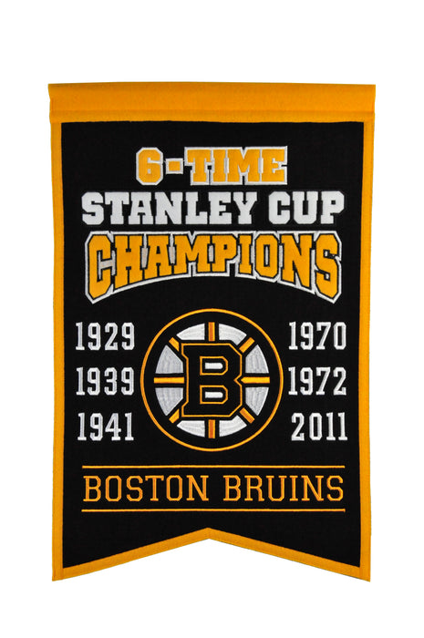 Boston Bruins Champs Banner | Man Cave Decor | 30209