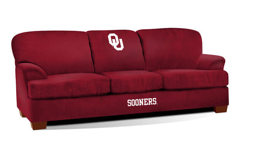 University Of Oklahoma First Team Microfiber Sofa | Man Cave Authority | IMP 305-6007
