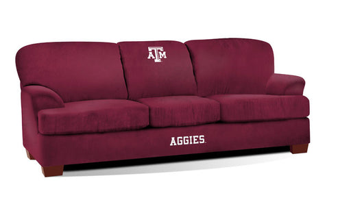 Texas A&M First Team Microfiber Sofa | Man Cave Authority | IMP 305-6021