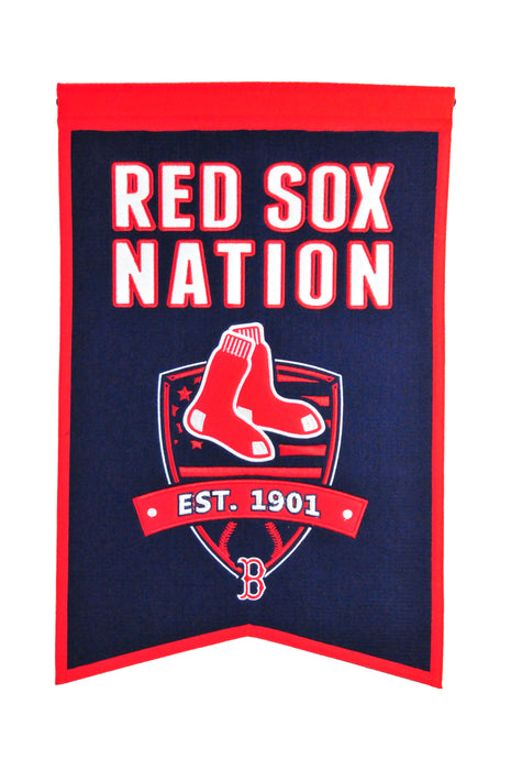Boston Red Sox Nations Banner | Man Cave Decor | 30500