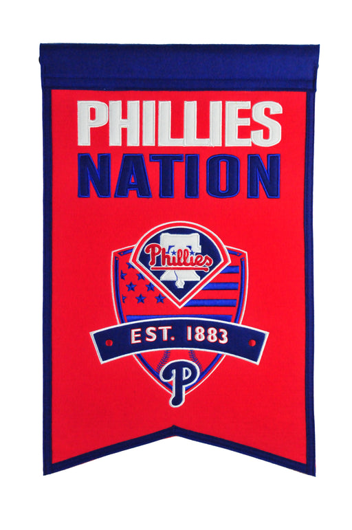 Philadelphia Phillies Nations Banner | Man Cave Decor | 30509