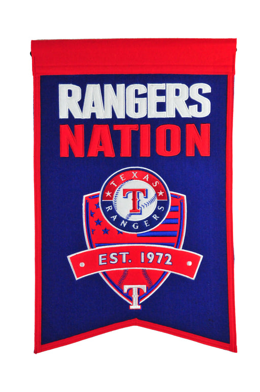 Texas Rangers Nations Banner | Man Cave Decor | 30510