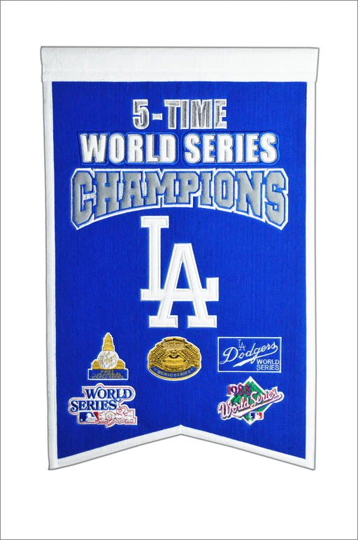 Los Angeles Dodgers Champs Banner | Man Cave Decor | 30528