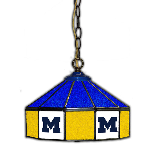 University of Michigan Stained Glass Pub Lamp | Man Cave Authority | IMP 333-3009