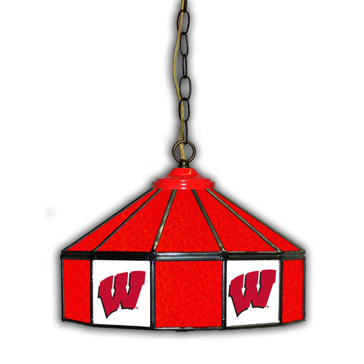 University of Wisconsin Stained Glass Pub Lamp | Man Cave Authority | IMP 333-3013