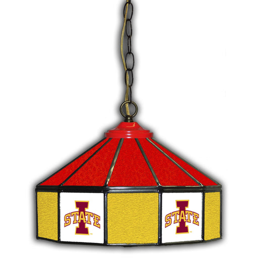Iowa State University Stained Glass Pub Lamp | Man Cave Authority | IMP 333-3024