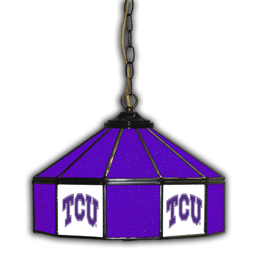 Texas Christian University Stained Glass Pub Lamp | Man Cave Authority | IMP 333-3037