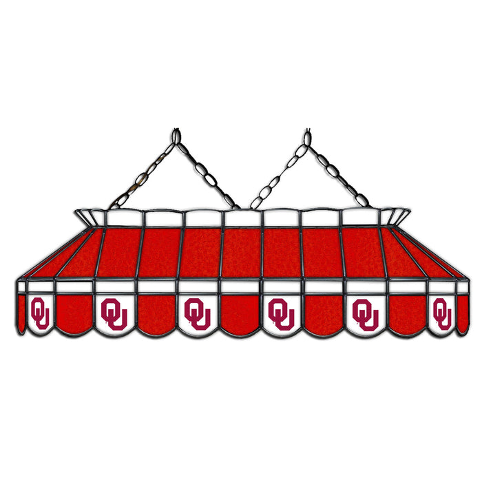 University of Oklahoma Stained Glass Pool Table Lamp | Man Cave Authority | IMP 333-3107