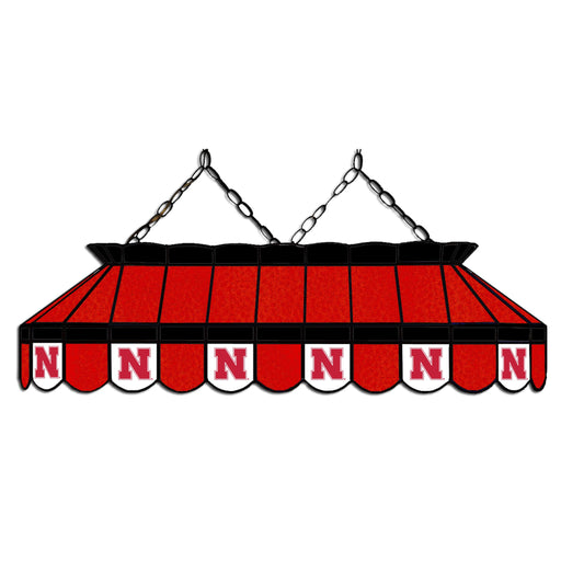 University of Nebraska Stained Glass Pool Table Lamp | Man Cave Authority | IMP 333-3110