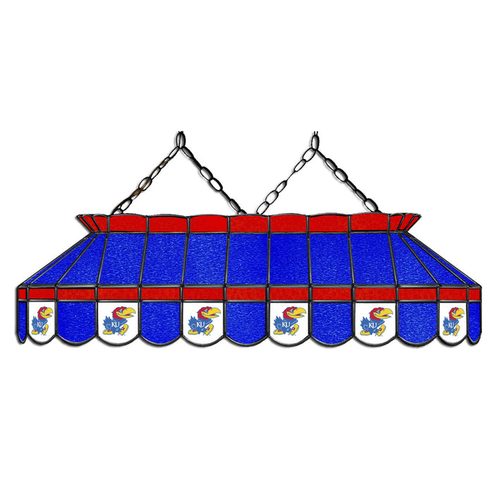University of Kansas Stained Glass Pool Table Lamp | Man Cave Authority | IMP 333-3120