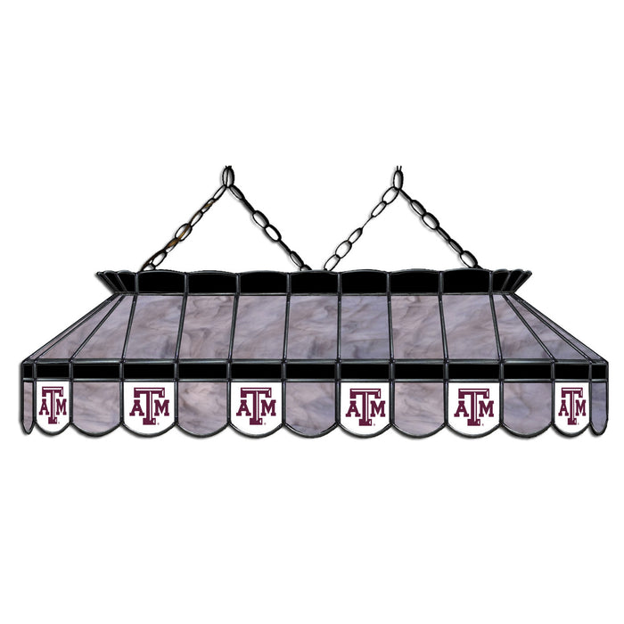 Texas A&M Stained Glass Pool Table Lamp | Man Cave Authority | IMP 333-3121
