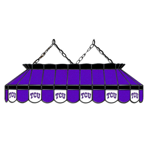 Texas Christian University Stained Glass Pool Table Lamp | Man Cave Authority | IMP 333-3137