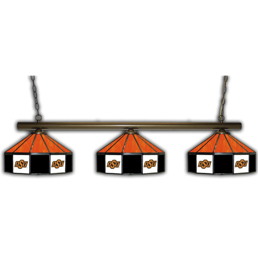 Oklahoma State University 3 Shade Glass Lamp | Man Cave Authority | IMP 333-3206