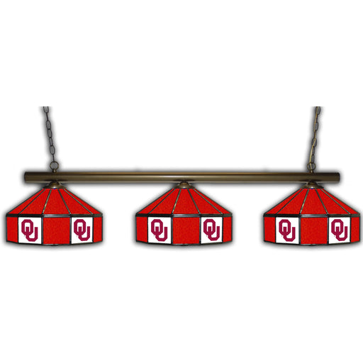 Oklahoma University 3 Shade Glass Lamp | Man Cave Authority | IMP 333-3207