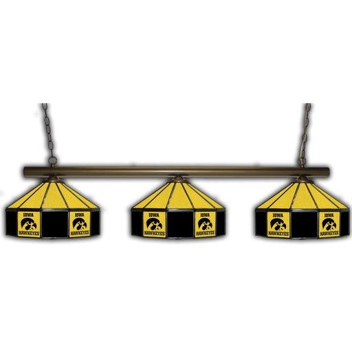 University of Iowa 3 Shade Glass Lamp | Man Cave Authority | IMP 333-3218