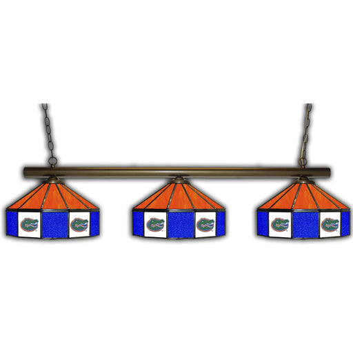 University of Florida 3 Shade Glass Lamp | Man Cave Authority | IMP 333-3226