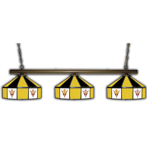 Arizona State University 3 Shade Glass Lamp | Man Cave Authority | IMP 333-3227