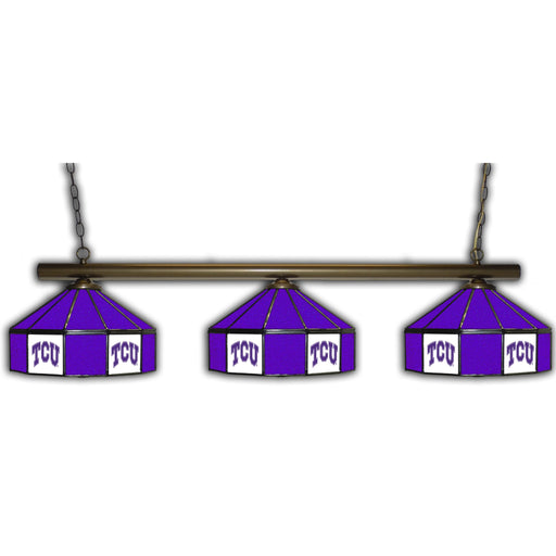Texas Christian University 3 Shade Glass Lamp | Man Cave Authority | IMP 333-3237
