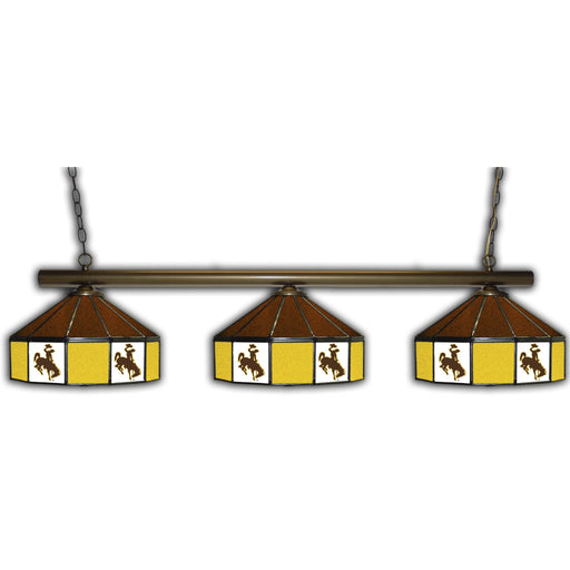 University of Wyoming 3 Shade Glass Lamp | Man Cave Authority | IMP 333-3239