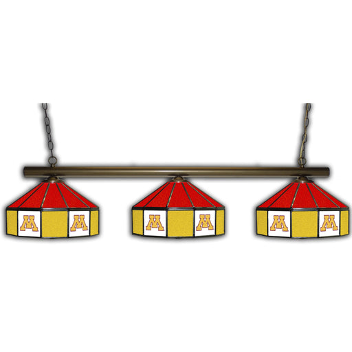 University of Minnesota 3 Shade Glass Lamp | Man Cave Authority | IMP 333-3240