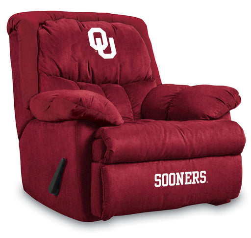 University Of Oklahoma Microfiber Home Team Recliner | Man Cave Authority | IMP 341-3007