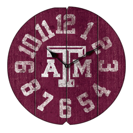 Texas A&M Vintage Round Clock | Man Cave Authority | IMP 372-3021