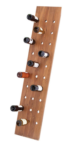 Indonesian Large Wooden Standing Wine Rack