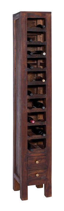 Stately Mahogany Wine Rack with Two Pullout Drawers | Man Cave Authority | 38344