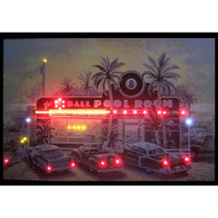 8 Ball Pool Room Neon/LED Picture | Man Cave Authority | 38BANL