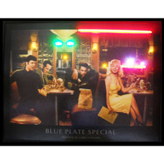 Blue Plate Neon/LED Picture | Man Cave Authority | 3BLUEP