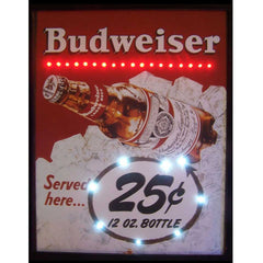 Budweiser Served Here 25 Cent LED Poster | Man Cave Authority | 3BUD25