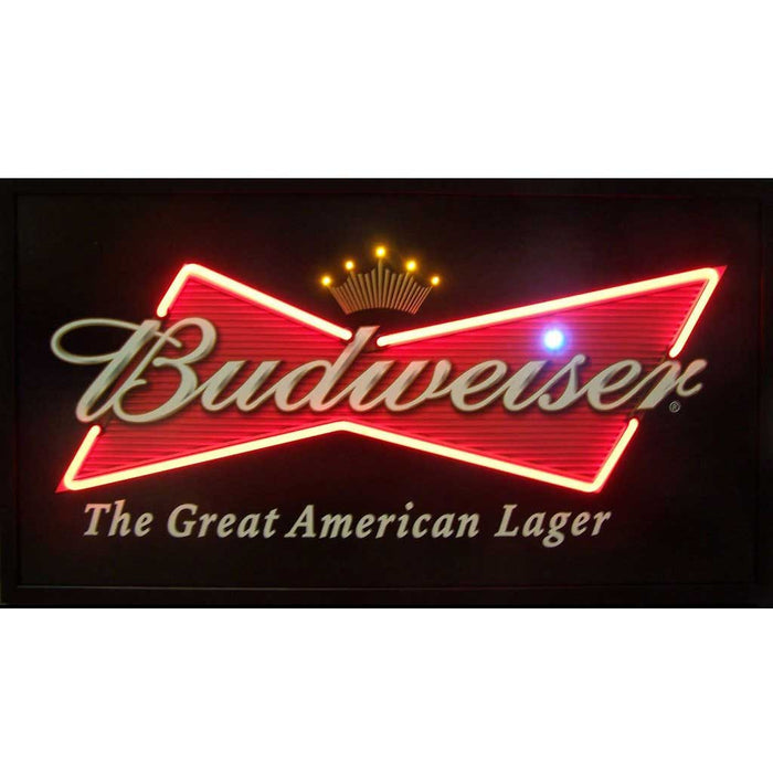 Budweiser Bowtie Neon/LED Picture | Man Cave Authority | 3BUDBO